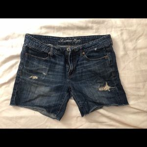 Distressed American Engle Jean Shorts